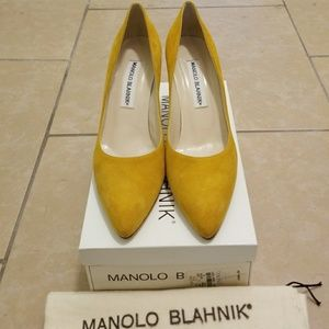 Shoes by Manolo Blahnik 8 Vintage Yellow